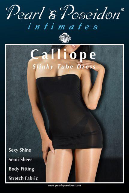 shiny sheer tube dress